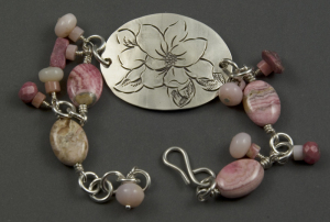 Magnolia and Rhodonite and Opal Link Bracelet 2 800